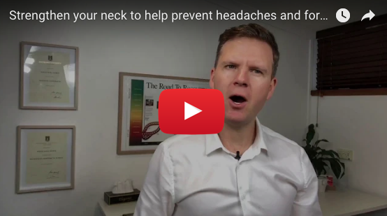 VIDEO Neck Exercise for Forward Head Posture and Headaches